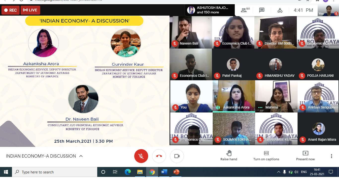 Indian Economy Discussion IIMBG