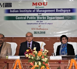 IIM Bodh Gaya signed MoU with CPWD for construction of campus