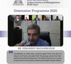 IIMBG-Orientation-2021-Batch12