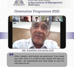 IIMBG-Orientation-2021-Batch13