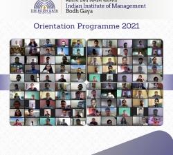 IIMBG-Orientation-2021-Batch16