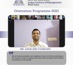 IIMBG-Orientation-2021-Batch15