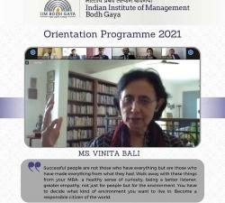 IIMBG-Orientation-2021-Batch17